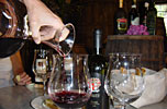 Enjoying local wine in your cooking vacations in Tuscany